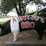 look for the pig off US Highway 77 NORTH