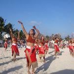 Show Maya en la playa