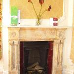 Marble fireplace Queen Victoria room