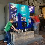 The Turtle Mountain Monitoring Project exhibit at the Frank Slide Centre.