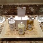 Complimentary toiletries...Again, beautifully presented