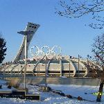 Front view of Olympic Stadium and Tower