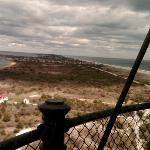 Southeast view from the top of the Fire Island Lighthouse - April, 2010