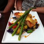 Atlantic salmon with asparagus