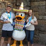 Dad & I, sharing our victory with the Duck himself