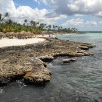 Public beach of Dominicus at Bayahibe