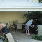 trying to work the barbeque