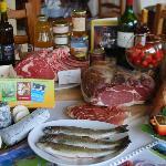 Table aux produits locaux