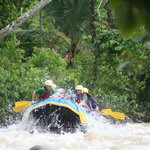 rafting in tropical paradise