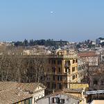 La vista dal terrazzo-splendida Roma