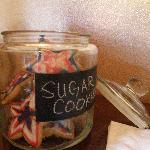 Our cookie jar is always full of home baked goodness.