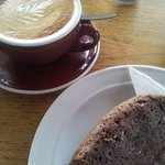 Coffee and Cake in Lyall Bay