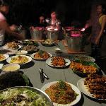 a dinner spread