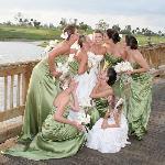 A happy bride!