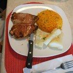 Pork Chop w/ Yellow Rice and Yuca Frita