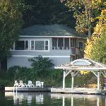 located on the waters edge