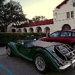 Morgan parked at Hacienda