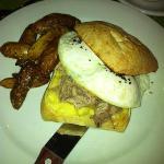 Egg Sandwich with Pork Shoulder & Fingerling Potatoes