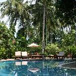 The smaller quiet pool