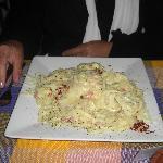 Fettucine Carbonara - 80 pesos in March 2012!