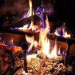 Chaleur et douceur près de la grande cheminée
