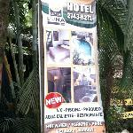 Sign in front of Hotel