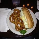 chicken philly and onion rings