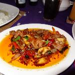 meat dish with chillies