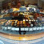 Bakery cafe, with always-exquisite pastries, just outside of Hotel Chopin, in Passage Jouffroy