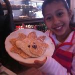 Kids love to design their own pancake!