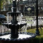 Frozen fountain on Thanksgiving weekend