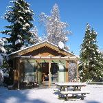 Spa Chalet in Winter