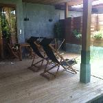 Private pool and decking