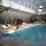 The inside swimming poola at Grand Melia Don pepe
