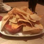 chips and various dips