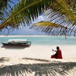 Massai Jeremias am Strand