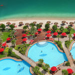 200 meters of sandy beach and one of the biggest outdoor pool in Abu Dhabi.