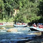 White water rafting.