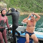 Preparations for the dive