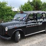 Our personal Black Cab tour service pickup at Anna's doorstep