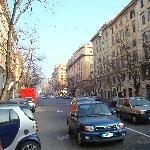 Via Andrea Doria, a few blocks from the Vatican Museums.