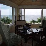Relax on Bailes porch with an afternoon glass of wine or cup of tea