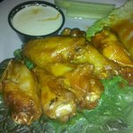 Wings [aka, Buffalo wings] done right - with blue cheese and celery!