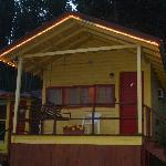 Exterior of Cabin #4 - great front porch swing