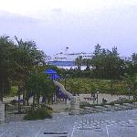 Early Saturday we could see a cruise ship heading in to the Port of Palm Beach