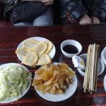 repas pour 6 sur le bateau Baie de Halong