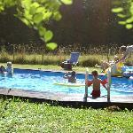 Une piscine intégrée dans le paysage à La Grosse Talle