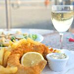 Yummy Fish and Chips in a great location