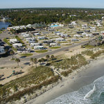 Ocean Lakes Family Campground features nearly a mile of oceanfront campsites and beach houses in