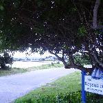 looking through the entrance to The Knysna Belle to Bollard Beach